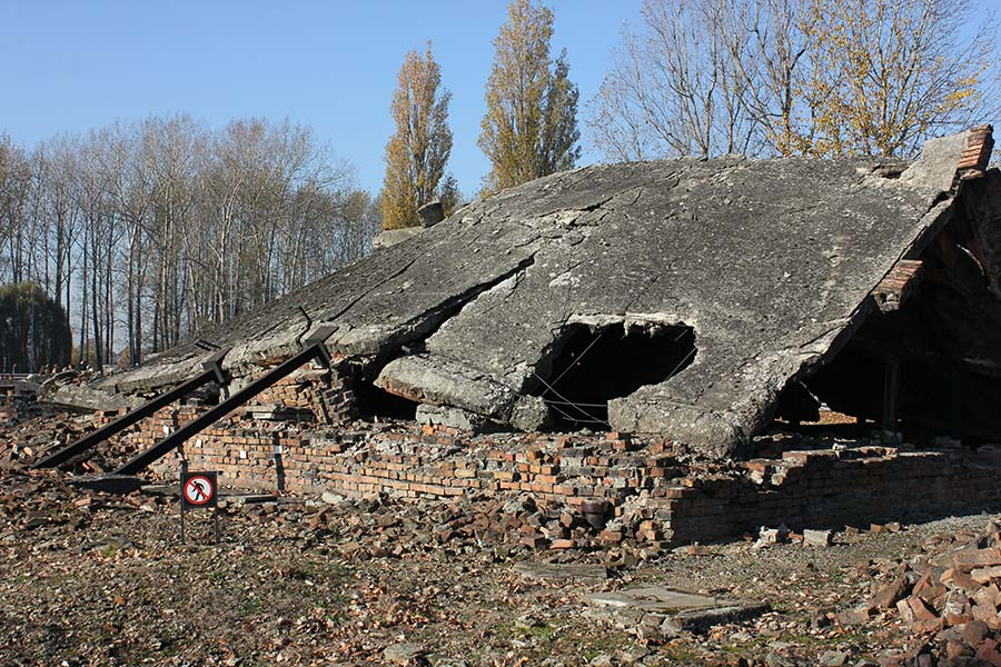 Auschwitz II-Birkenau - ruins of the crematorium 2